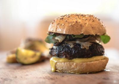 Venison Burger with Homemade Bun