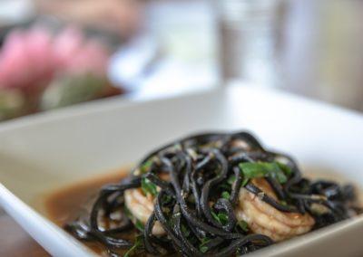 Black Squid Ink Chitarra & Herbed Kauai Shrimp